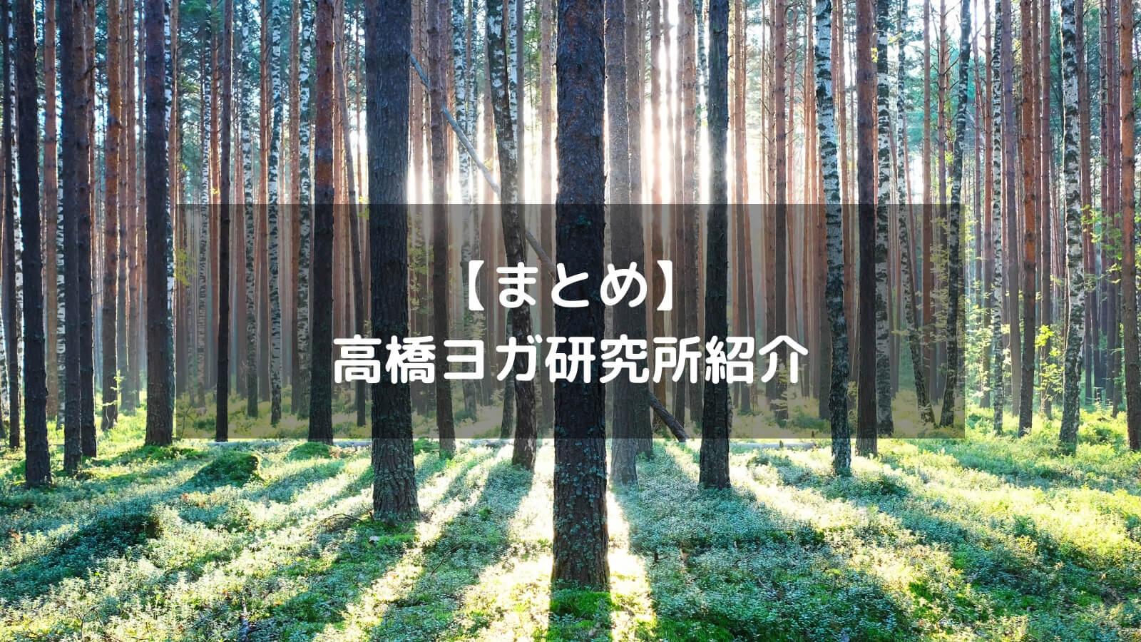 【まとめ】高橋ヨガ研究所紹介